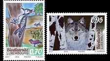 Luxemburg 2016  Biodiversety   bird  wolve   mnh    GBR