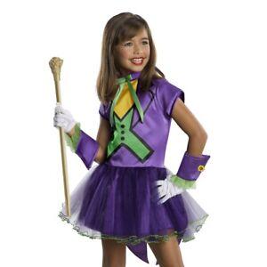 Kids Toddler Girls Joker Villain Halloween Dress Costume