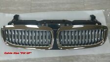 MIT CHROMED FRONT & BLACK REAR FRONT KIDNEY GRILLE BMW E65 7 SERIES 2002-2004