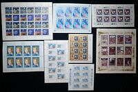8 Souvenir Sheet USSR SOVIET RUSSIA Postage 90 STAMPS Collection MINT NH