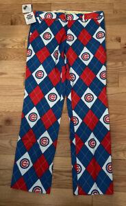 Men's NWT Chicago Cubs LoudMouth Golf Pants Cotton Spandex Blend 34 X 34