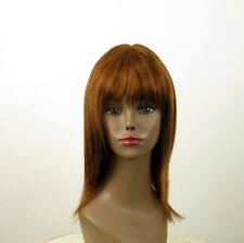 perruque AFRO femme 100% cheveux naturel châtain clair cuivré KOKO 01/30