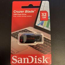 Sandisk Cruzer Blade USB Flash Drive 32GB; Brand New.