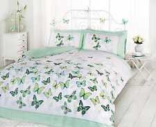 Superbe Tendance Funky coton papillon vert simple ENSEMBLE PARURE HOUSSE COUETTE
