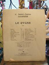 Partitura El Cisne de C Saint Saens para Piano