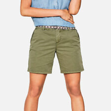 Ex Esprit Womens Washed Coloured Cotton Chino Shorts with Pockets 6-18
