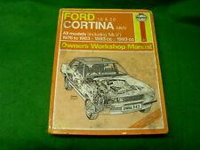 FORD CORTINA 1.6 2.0 1976 - 1983 1593cc 1993cc USED HAYNES WORKSHOP MANUAL