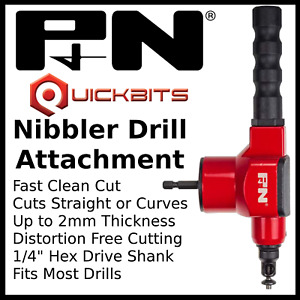 P&N Nibbler Drill Attachment by Sutton For Cutting Sheet Metal, Plastics etc