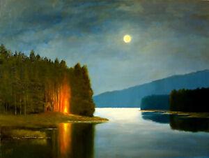 George H. Grimm - Impressionist / Tonalist / Landscape