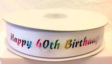 Milestone Birthday Ribbon - Cake or Gift Wrap