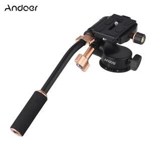 Andoer Q08S Aluminum Alloy 3-Way Damping Video Head Tripod Head with Pan U0H8