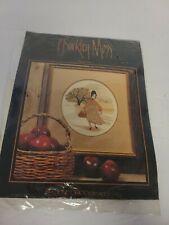 P Buckley Moss Cross Stitch Chart Pattern -  Amish Apple Girl  - Leaflet 101 NEW