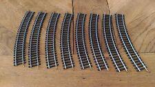 Lot 8 Rails Courbe Jouef « N°870 R=385 R=15» En Très Bon Etat.