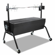 Grillz Portable Electric Rotisserie Charcoal BBQ Grill Outdoor Spit Roaster