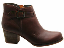 100% Leather No Pattern Zip Ankle Women's Boots
