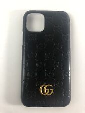 Gucci Case For Iphone 11 Pro Black Leather With Logo