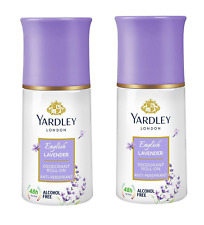 Yardley London English Lavender Deodorant Roll On For Women 50ml x 2, Pack of 2