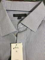New W Tags Banana Republic Blue Stripe Mens Dress /Casual Shirt -Size XL 17-17.5