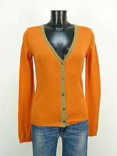 BRUNELLA GORI STRICKJACKE GR M / ORANGE & 100%MERINOWOLLE    ( L 9556 )