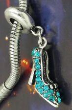 Disney Cinderella Glass Crystal Slipper  European Chamilia Style Charm
