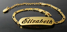 ELISABETH - Bracelet With Name - 18ct Yellow Gold Plated - Gifts For Her