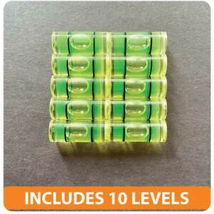 10 PCs Acrylic Tube Bubble Spirit Level Vial Measuring Instrument D 10mm L 25mm