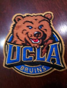 """UCLA BRUINS  vintage iron on embroidered patch 3"""" x 3"""""""