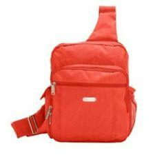 Baggallini Luggage Coral Nylon Sling Crossbody Messenger Bag Travel Purse EUC