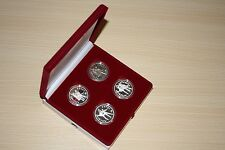 Russia, 3 Rubles, Set: 4 coins, Russian ballet, 1993-95, Silver 1 Oz, Proof/UNC