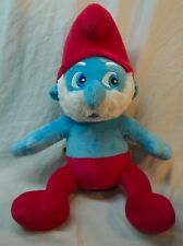 "Build A Bear Workshop The Smurfs MUSICAL PAPA SMURF 15"" Plush STUFFED ANIMAL Toy"