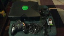 ORIGINAL MICROSOFT XBOX CLASSIC 8GB CONSOLE SYSTEM NTSC WITH CONTROLLER CABLES