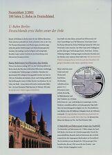 Numisblatt 2002 Beschreibung für die Blätter 2 und 3/2002  in pro collect Folie