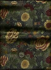 """Kimono Collection"" Print gold inlay multi color on greys Fabric by Hoffman"