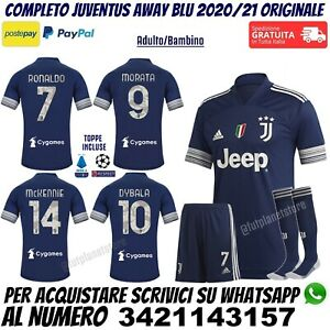 Maglia Juventus 2020 2021 Trasferta Blu Ronaldo Dybala Morata McKennie Originale