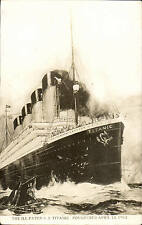 More details for titanic. the ill - fated s.s. titanic. foundered april 15 1912.