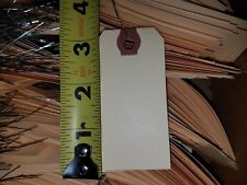 """25- 1-5/8"""" x 3-1/4"""" WIRED MANILA TAG HANG LABEL SHIPPING INVENTORY STOCK SIZE 2"""