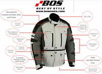 Herren Touren Motorradjacke Textil schwarz Winter Motorrad Wasserdicht Jacke
