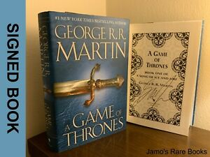 George R.R. Martin SIGNED BOOK A Game of Thrones 1ST EDITION Hardcover