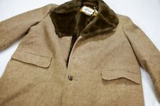 Vintage Woolrich men's coat with faux fur collar and lining, Size 46