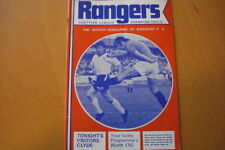 Rangers Home Teams Written - on Football Programmes
