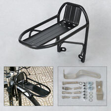 New Aluminum Alloy Bicycle Bike Cycling Front Rack Panniers Bracket Black