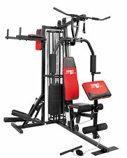 Christopeit Fitness Station Profi Center de Luxe mit 12 x 5 kg Gewichtplatten