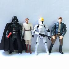 "Lot 4 STAR WARS 3.75"" Darth Vader Obi Wan Kenobi Clone Pilot TROOPER figure toys"