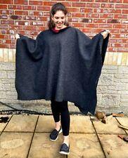 More details for 100% wool grey blanket poncho / camp blanket
