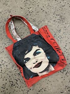 Andy Warhol Jackie Kennedy Red Canvas Tote Bag