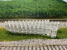 "O Scale - Custom Made 38"" Long White Picket Fence O2290"