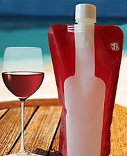 NEW Premium Foldable Wine Bottle Portable Reusable Refillable Leak Proof 750 ml
