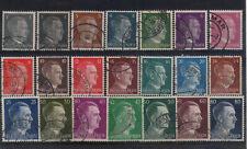 lot série 21 timbres allemands reich Adolf Hitler oblitéré  5