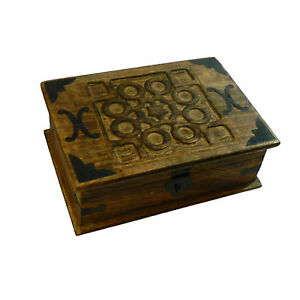 Cofres joyeros aspecto antiguo pack 5 madera maciza