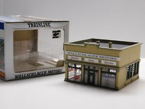 HO Scale 1/87 - Walthers Trainline - Wallschlager Motors Building Structure